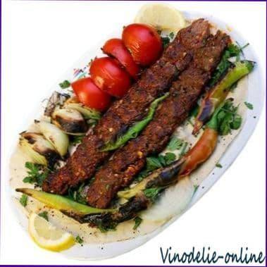 Люля кебаб с салом