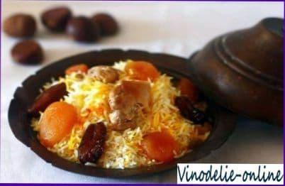 Плов с сушеными фруктами (по армянски)